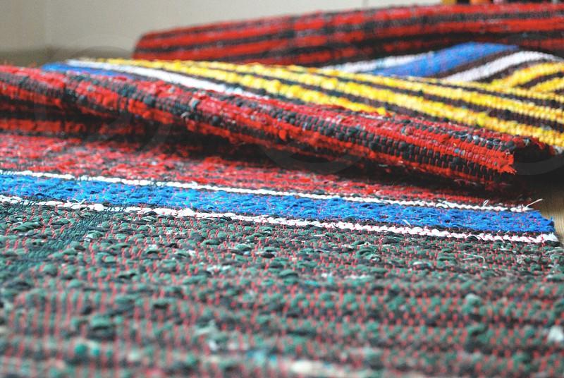 multicolored rug photo