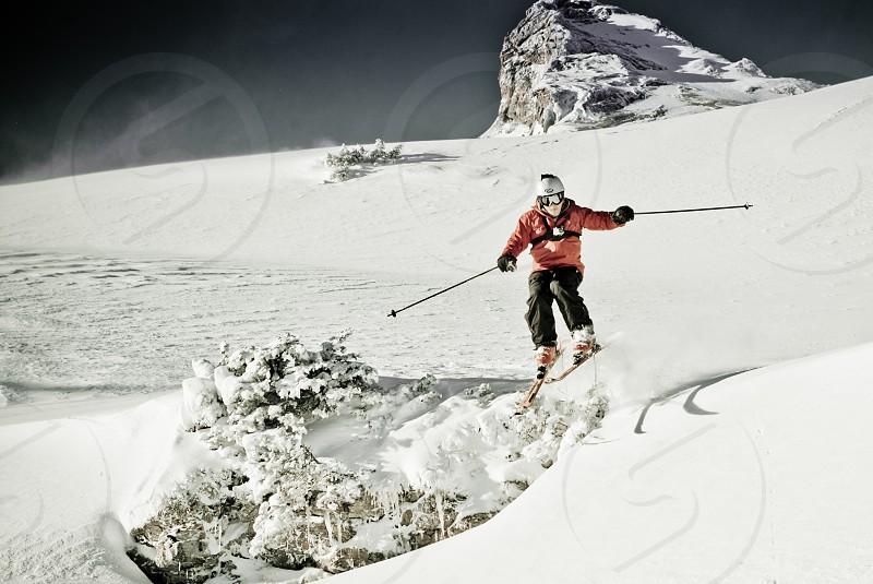 skiing jumpmountainsnow photo