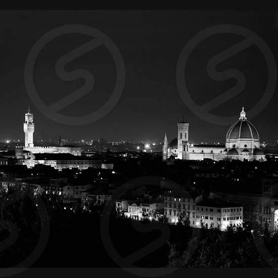 City view of Firenze / Florence by night. Italy Tuscany. photo
