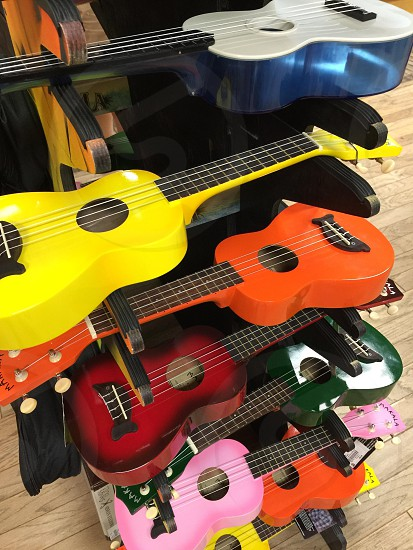 Instruments music strings color guitars  photo