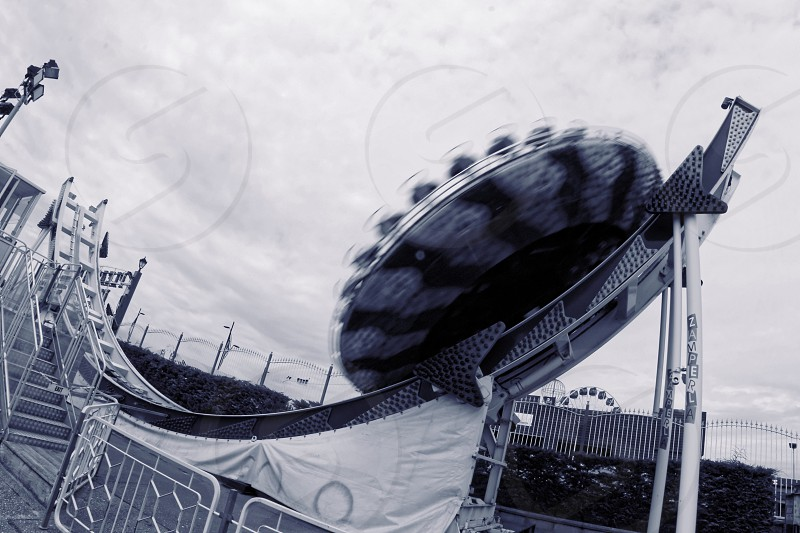 large spinning carnical ride photo