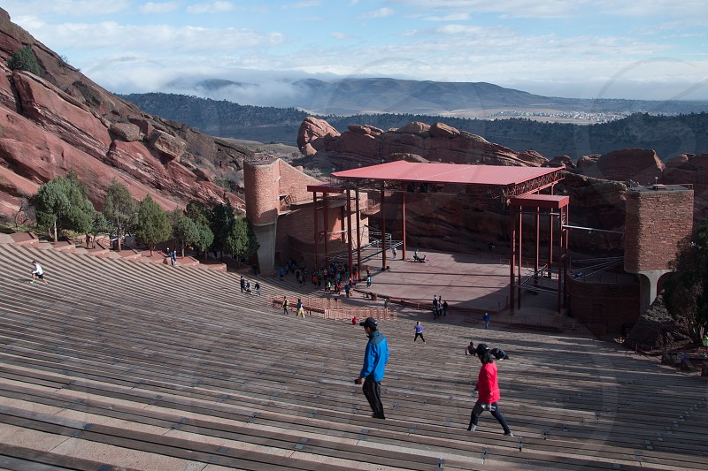 Red Rocks Amphitheater operated by City of Denver and located near Lakewood Golden and Morrison Colorado photo