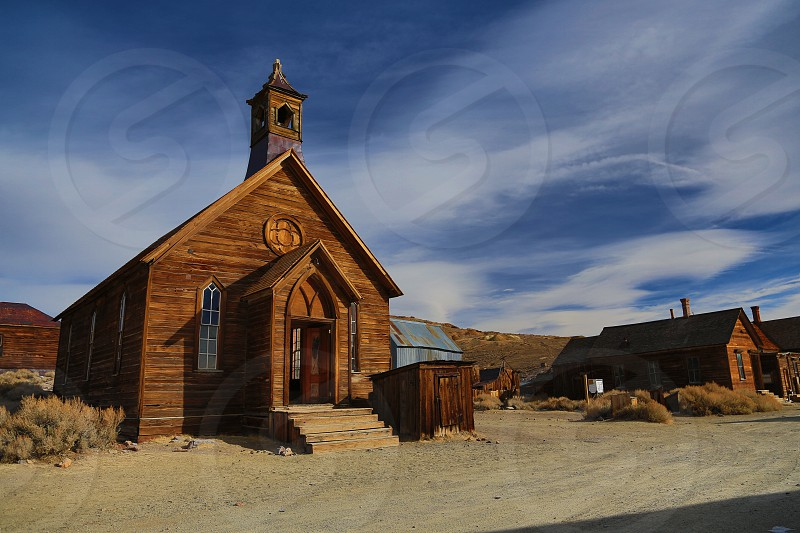 Bodie Church in January photo