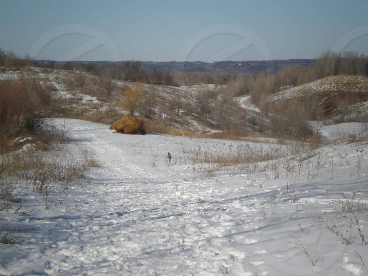 winter nature landscape Wisconsin La Crosse snow outdoors adventure hiking photo