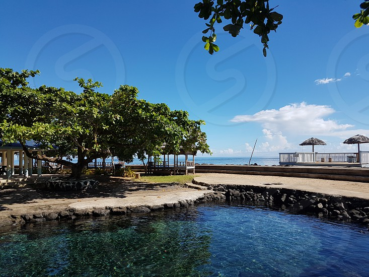 Natural swimming hole in Samoa photo