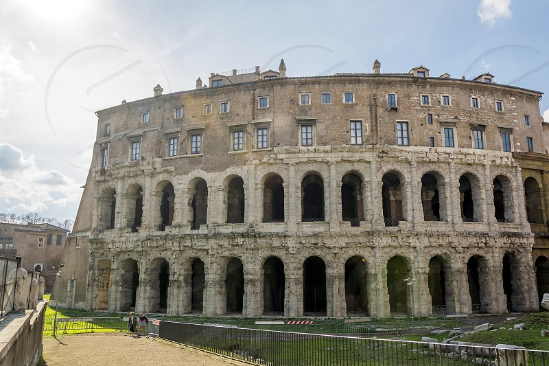 The Theatre of Marcellus (Teatro di Marcello) is an ancient open-air theatre in Rome Italy built in the closing years of the Roman Republic photo