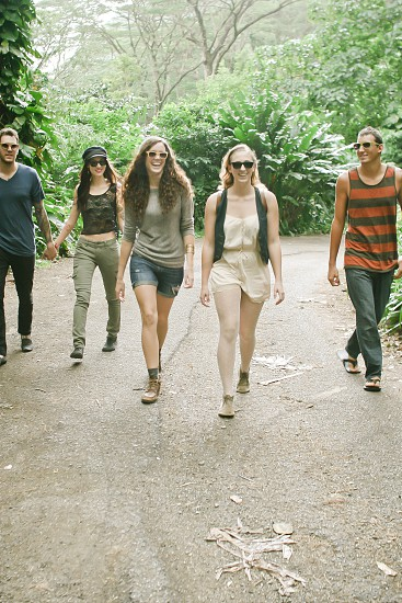 A group of young adults hiking photo