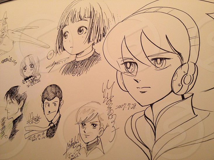 A tribute in drawings and manga for victims of the tsunami. photo