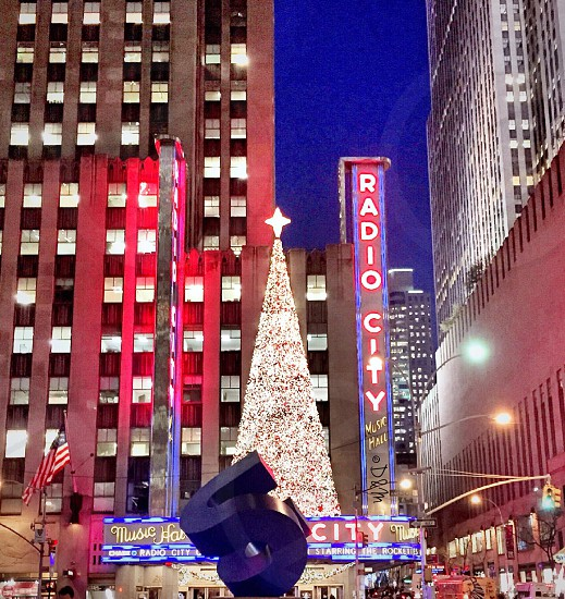 Christmas Tree On Top Of Radio Music Hall photo