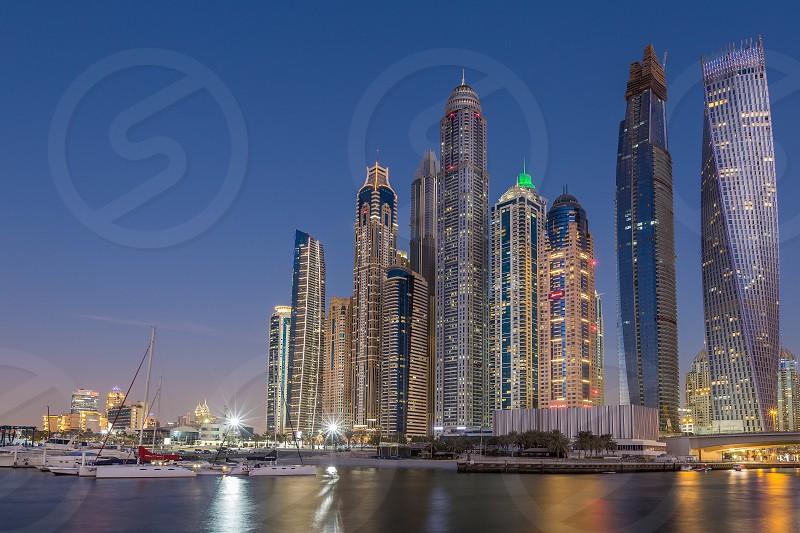 Dubai Marina Skyline photo