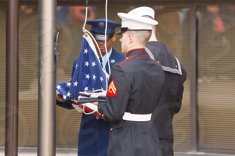Prisoner of war flag honor ceremony photo