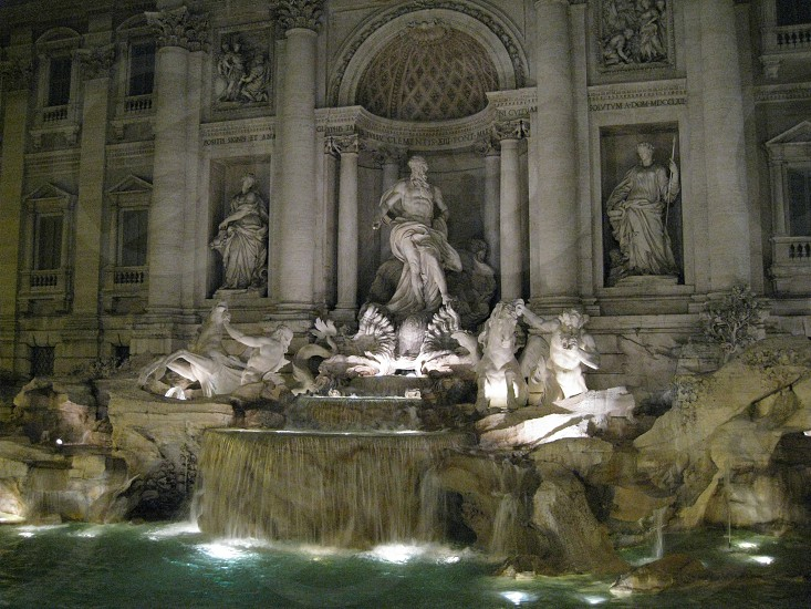 trevi fountain Rome Italy photo