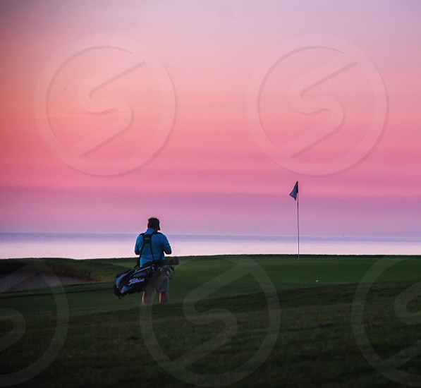 Torrey Pines Golf course at sunset. La Jolla CA photo