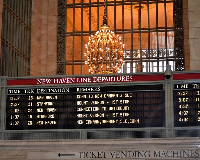 new haven line departures  ticket vending machines station photo
