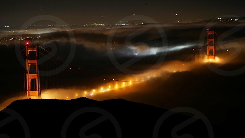Foggy Golden Gate Bridge photo