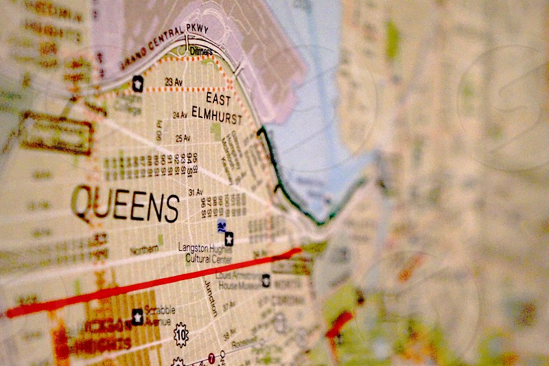 queens east elmhurst map photo