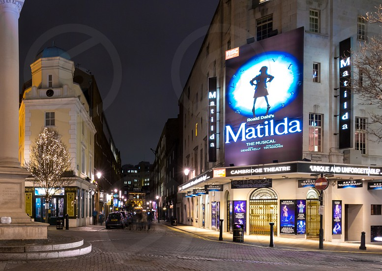 London Theatres at night Covent Garden  photo
