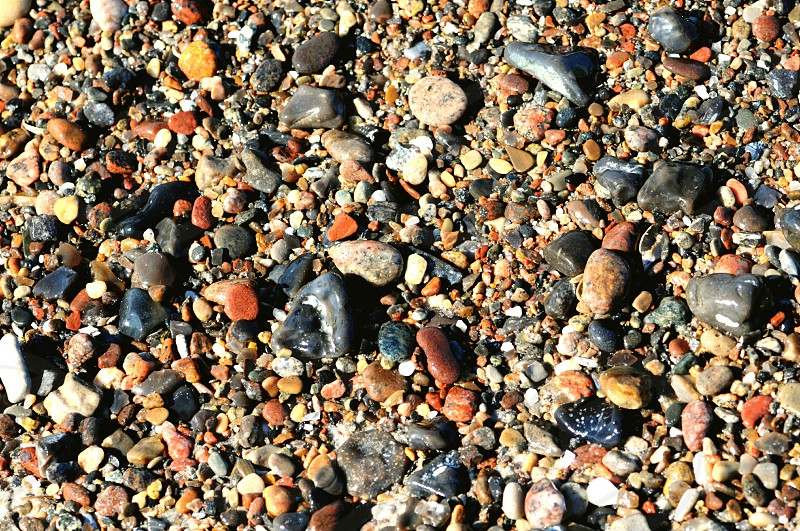 pebbles on beach of darsser ort in the waves. (Mecklenburg-Vorpommern Germany) photo