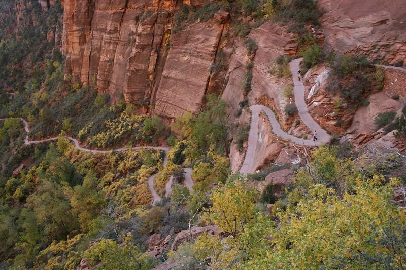 Path fall mountains Utah Zion National Park photo