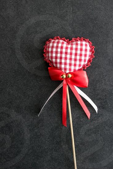 Heart shaped holiday love ornament photo