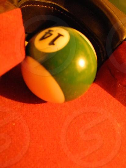 #14 pool ball  photo