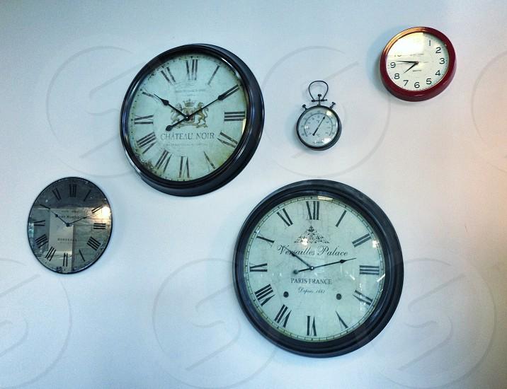Time clocks teal photo