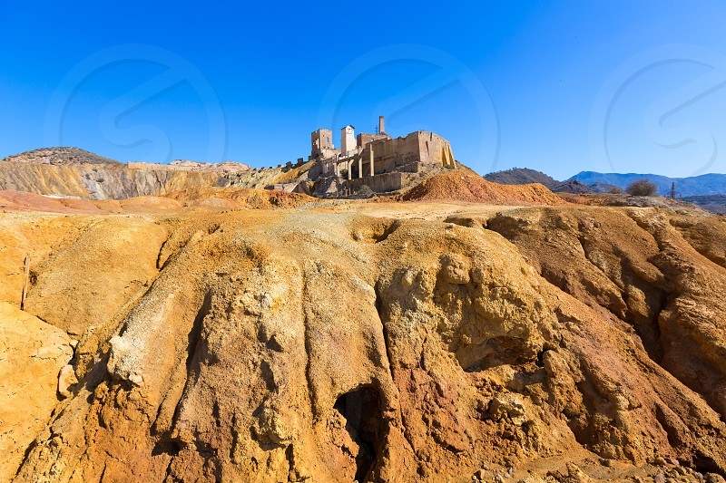 Mazarron Murcia deserted old mine in Spain photo