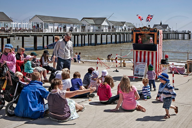 Punch and Judy show in Southwold photo