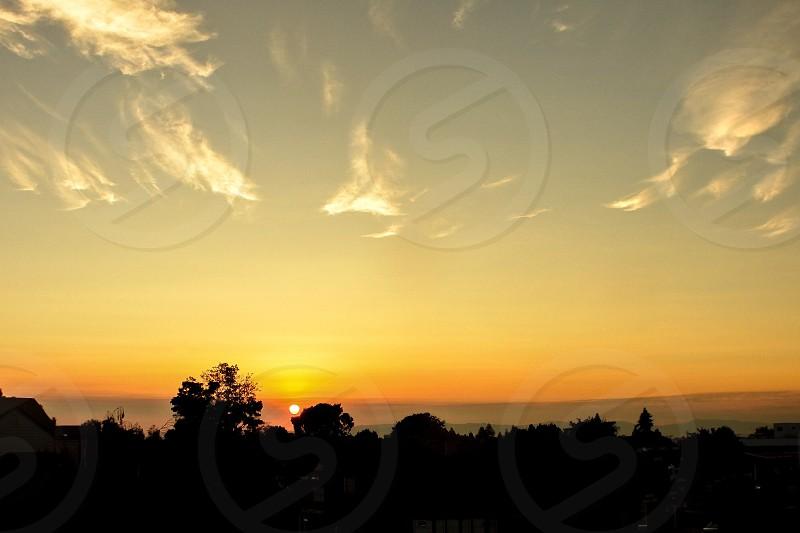 Sunrise above the Train Tracks photo