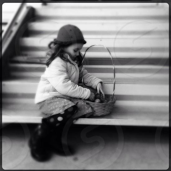 girls crochet knit cap photo