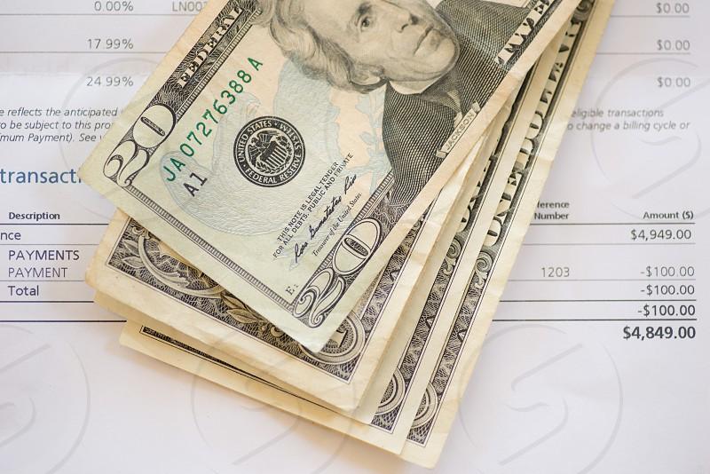 US bills and bill photo