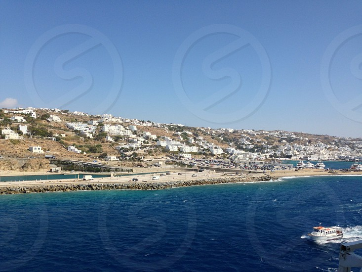 Mykonos from the sea  photo