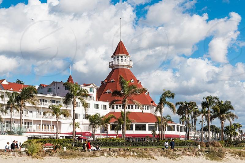 The landmark Hotel Del Coronado in Coronado California located in San Diego County. photo