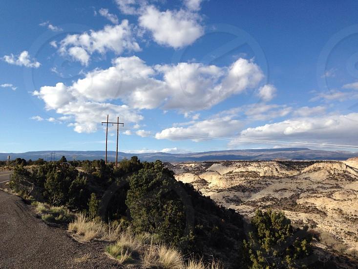 landscape photography of lands photo