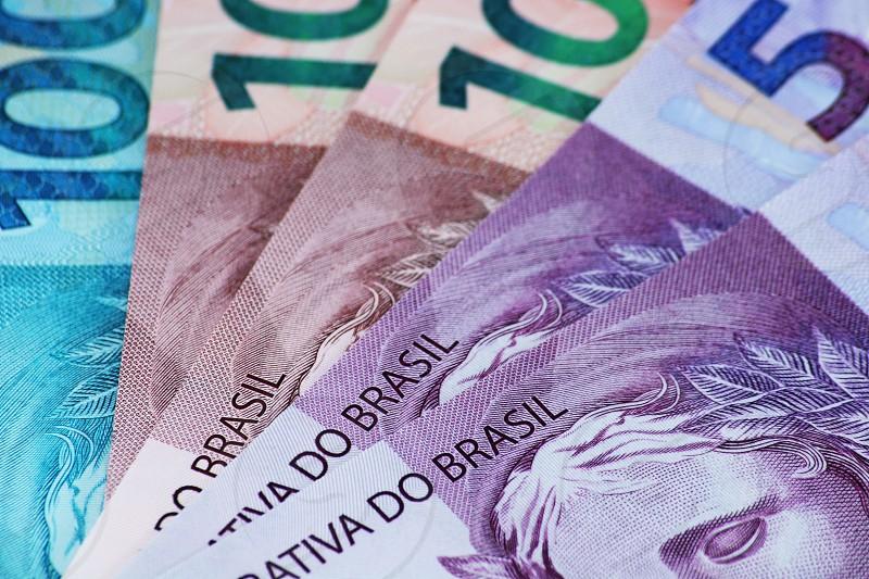 Brazilian money closeup photo