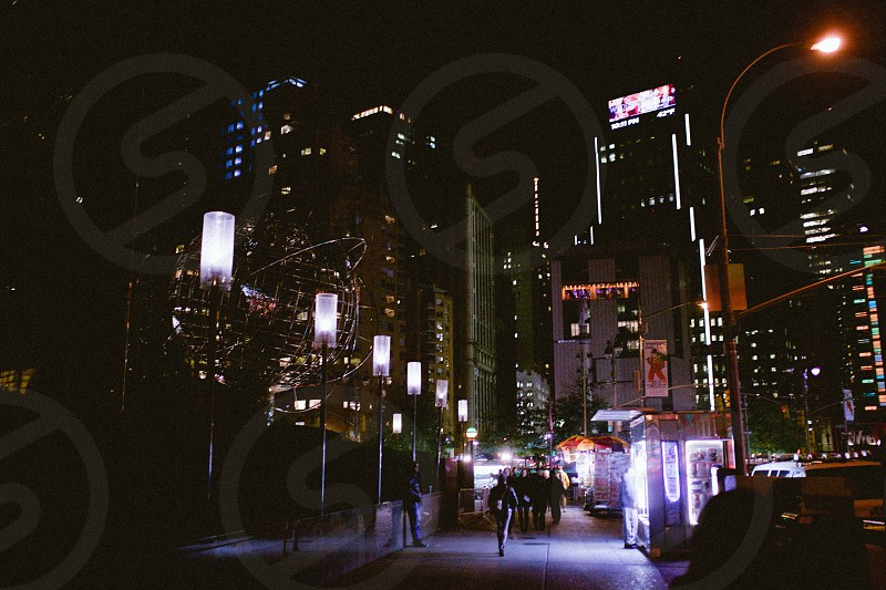 new york lights at night photo
