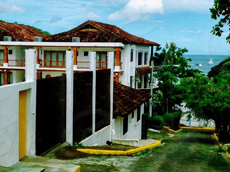 Vintage Nicaragua San Juan del sur vacation streets view ocean architecture culture neighborhoods hills mountains town nature photo