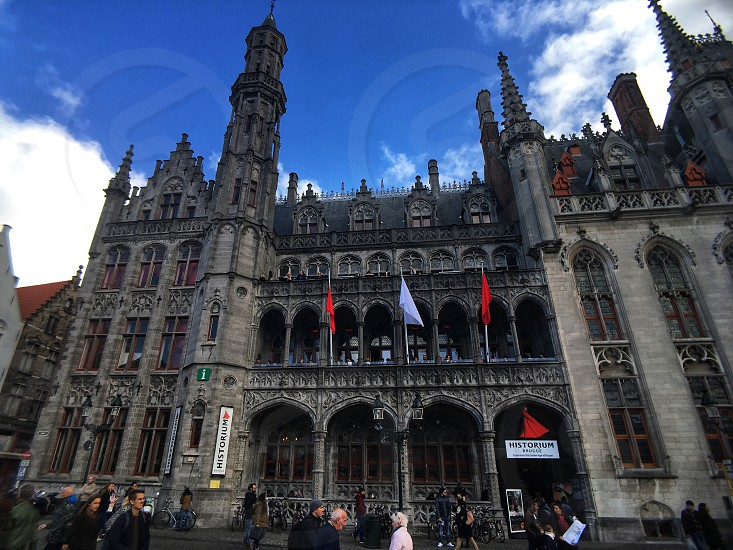 Stunning building in the centre of Bruge Belgium. photo