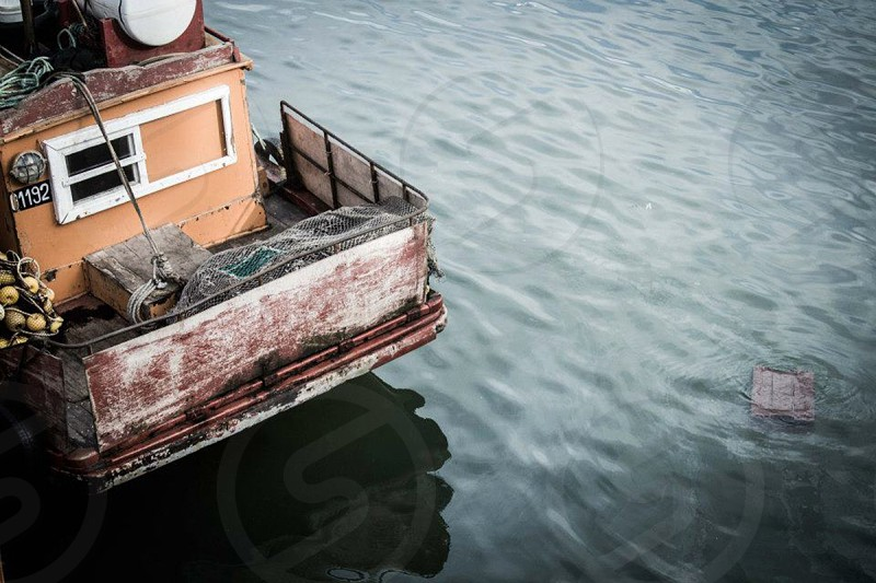 brown boat  photo