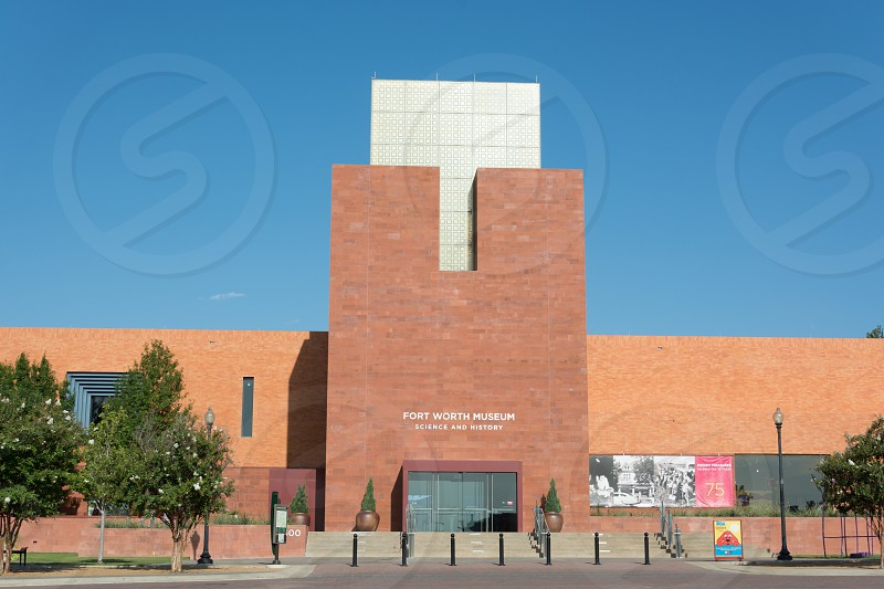 Exterior building shot of the Fort Worth Museum of Science and History in Texas photo