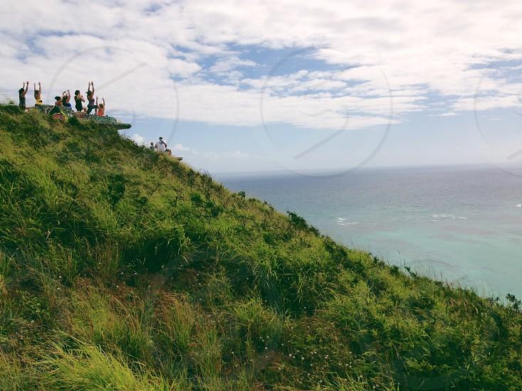Lanikai Pill Box Hike Kailua Hawaii Yoga Mountains Ocean Spiritual photo