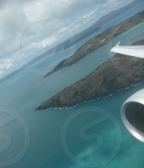airplane travel islands hamilton island australia photo