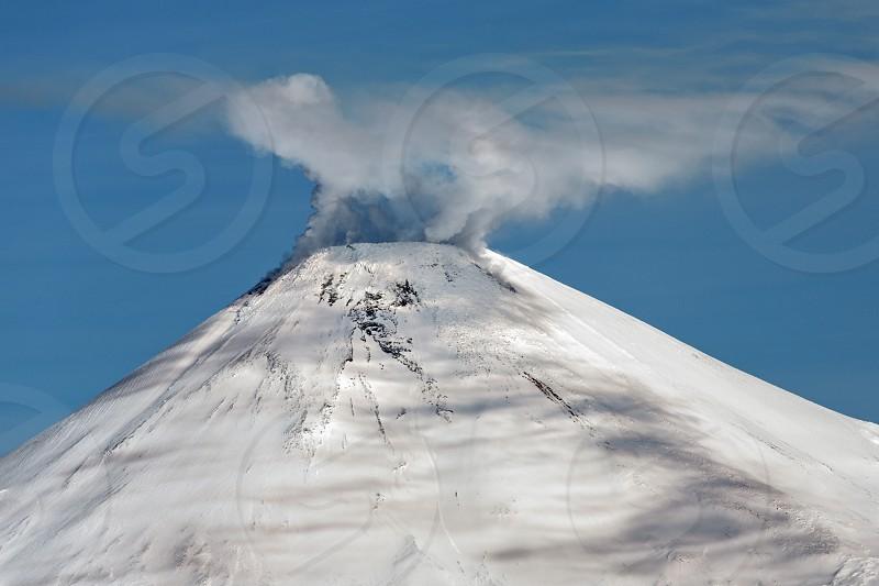 Beautiful volcanic landscape: view of cone Avachinsky Volcano - active volcano of Kamchatka Peninsula. Koryaksky-Avachinsky Group of Volcanoes Kamchatka Region Russian Far East Eurasia photo