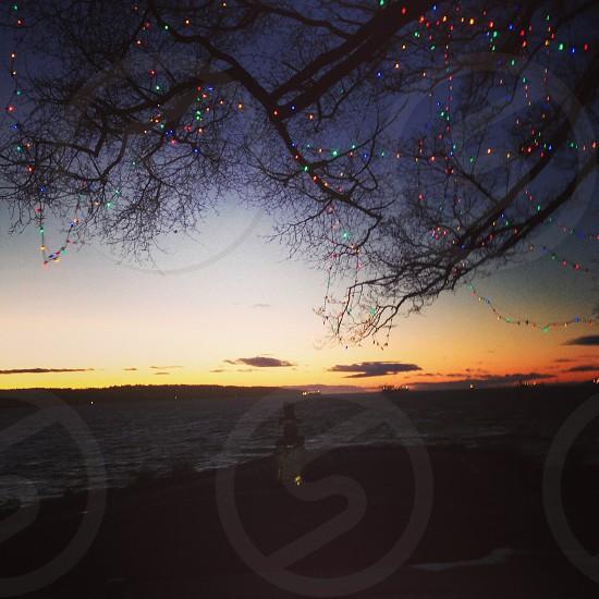 Sunset and Christmas...  photo
