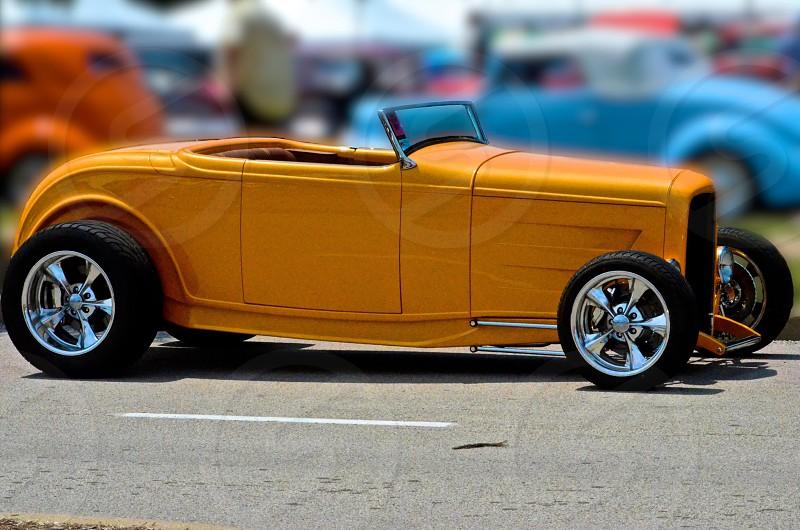 orange toy car photo