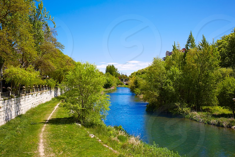 Burgos Arlanzon river in Castilla Leon of Spain photo