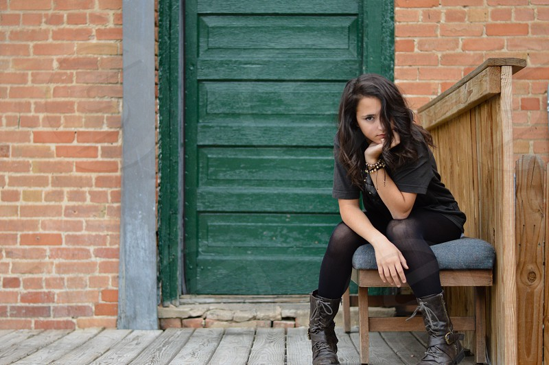 Shot in the alleys of the Stock Yards in Fort Worth Texas photo
