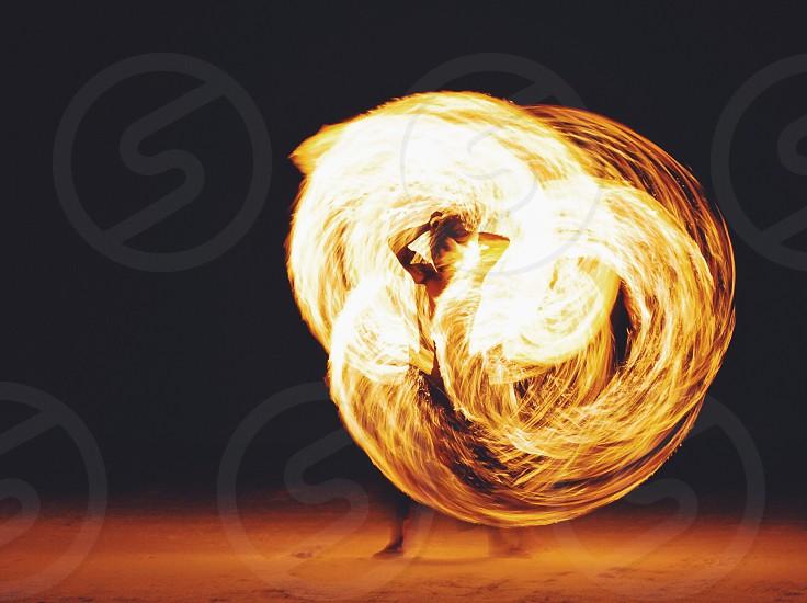 fire dancing photo