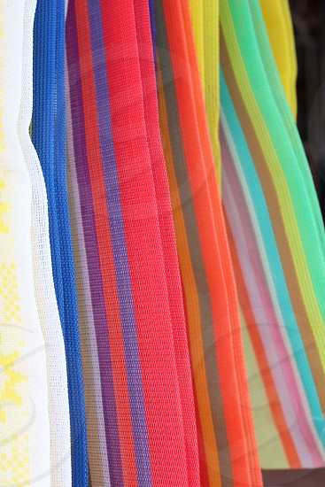 Color shopping bags Mexico Crafts photo