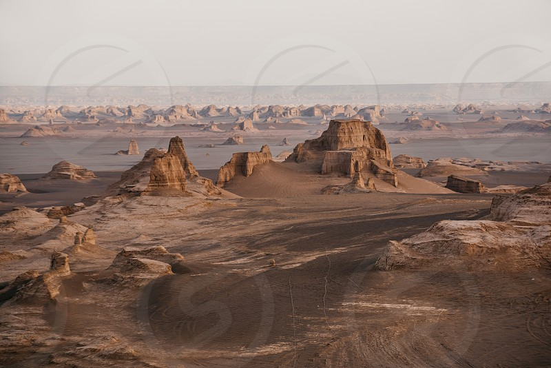 Lut Desert one of the driest and hottest places in the world. photo
